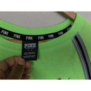 PINK Victoria's Secret Sweaters - PINK Victoria's Secret Sweater Pullover Green Sz S